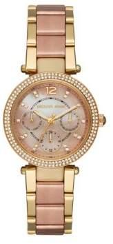 Michael Kors Mini Parker Two-Tone Stainless Steel Bracelet Watch
