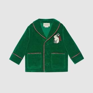Gucci Baby velvet jacket with rabbit