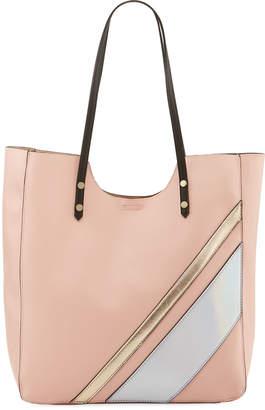 Neiman Marcus Gidget Striped Shoulder Tote Bag