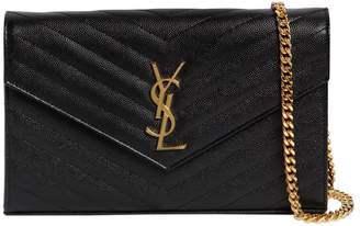 4e33142bfe ... Saint Laurent Small Quilted Monogram Leather Bag