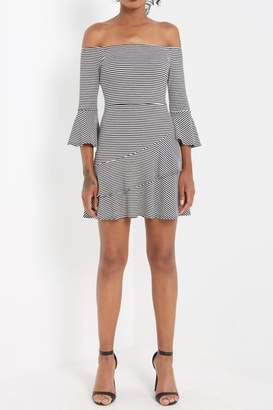 Soprano Off-Shoulder Ruffle Dress