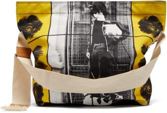 J.W.Anderson X Gilbert & George Print Canvas Bag - Womens - Black Yellow