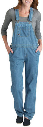 Dickies Misses Relaxed-Fit Straight-Leg Denim Overall