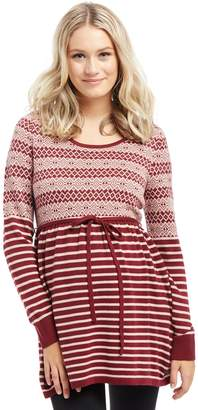 Motherhood Maternity Fairisle Babydoll Maternity Sweater
