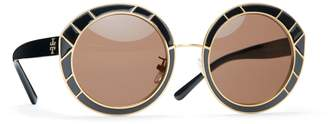 Tory Burch METAL-TRIM ROUND SUNGLASSES