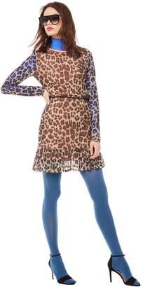 Juicy Couture Jxjc Leopard Dropwaist Bell Sleeve Dress