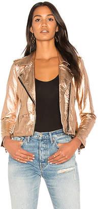 BLANKNYC Metallic Moto Jacket in Metallic Copper $148 thestylecure.com