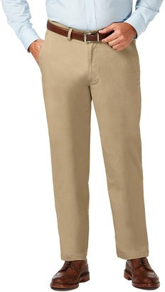 Haggar Big & Tall Coastal Comfort Classic-Fit Stretch Flat-Front Chino Pants