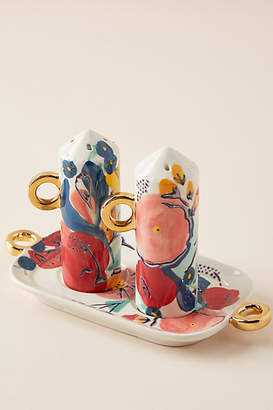 Anthropologie Milton Salt & Pepper Shakers