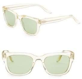 Barton Perreira Men's Stax 50MM Square Sunglasses - Champagne Emerald