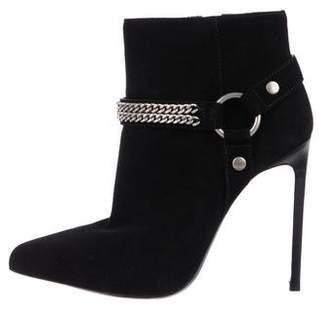 Saint Laurent Suede High-Heel Boots w/ Tags