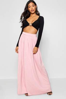 boohoo Floor Sweeping Maxi Skirt