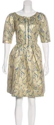 Vineet Bahl Brocade Knee-Length Dress