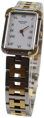 Hermes Vintage White gold and steel Watches