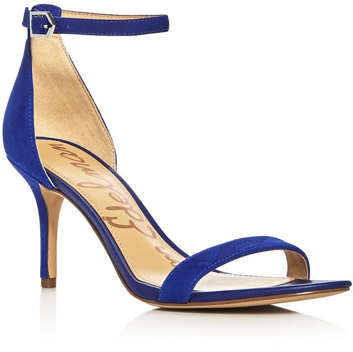 Blue Ankle Strap Heels - ShopStyle Australia