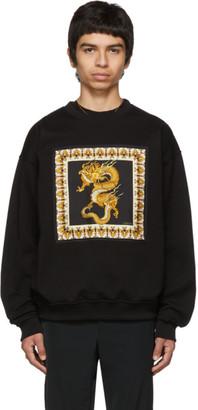 Versace Black Silk Dragon Sweatshirt