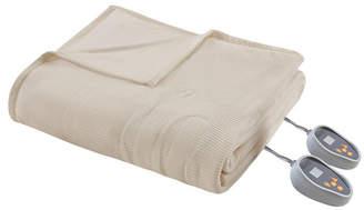 Simmons Knit Micro-Fleece Queen Heated Blanket Bedding