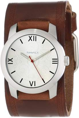 Nemesis Watch Men's BHST068S Elite Collection Roman Numeral Leather Band Watch