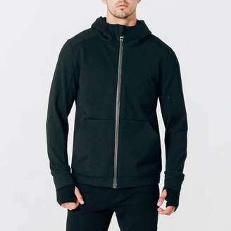 DSTLD Mens Travel Hoodie in Black