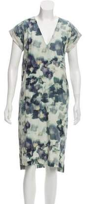 Creatures of Comfort Silk Floral Dress
