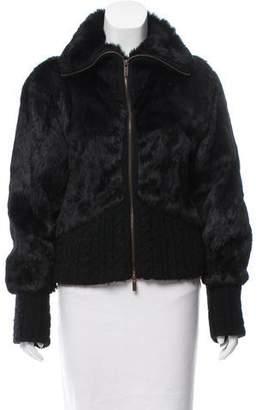 Christian Lacroix Fur Wool-Trimmed Jacket