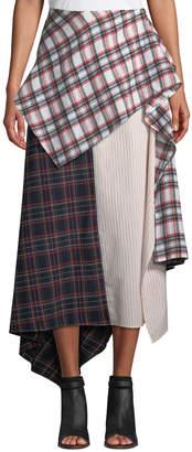 STYLEKEEPERS At Liberty Mixed-Media Asymmetric Skirt