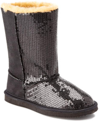 L'amour Girl's Black Sequined Boot