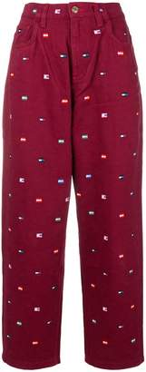 Tommy Hilfiger embroidered logo trousers
