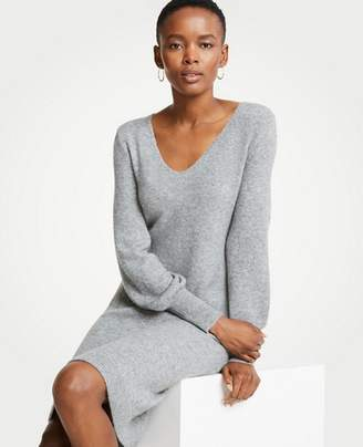 Ann Taylor Blouson Sleeve Sweater Dress