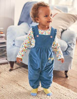 Boden Frilly Dungaree Set