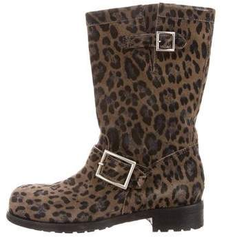 Jimmy Choo Suede Cheetah Boots