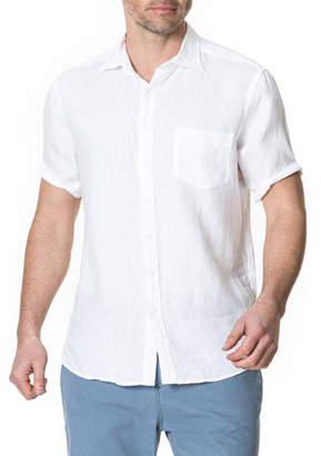 Rodd & Gunn Men's Abbotleight Linen Short-Sleeve Sport Shirt