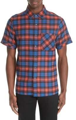 Ovadia & Sons Plaid Flannel Camp Shirt