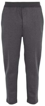 Prada - Stretch Cotton Track Pants - Mens - Dark Grey