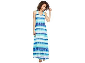 Stripe Print Maxi Women S Dress