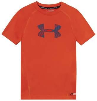 Under Armour Childrens' Orange Logo Print T-Shirt