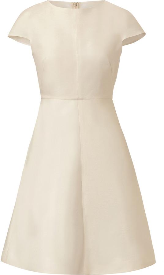 Valentino Pearl Silk-Cotton Blend Dress