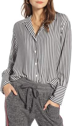 Treasure & Bond Blouson Stripe Boyfriend Shirt
