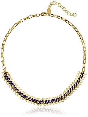 A.V. Max a. v. max Fishbone Gold and Royal Cord Necklace