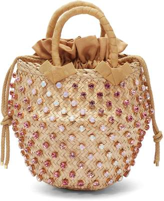 Le Ninè 'Nina' small glass crystal basket bag