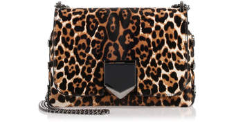 Jimmy Choo Lockett Petite leopard shoulder bag