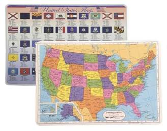 Painless Learning USA Placemat + Flags of the USA Placemats: Laminated Learning Placemats (2)