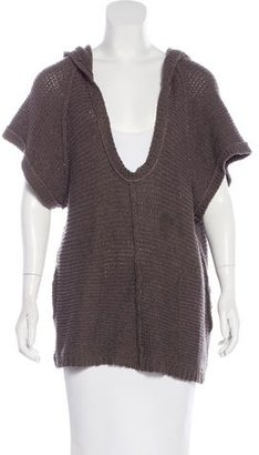 Inhabit Short Sleeve Hooded Sweater $65 thestylecure.com