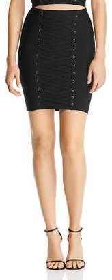 GUESS Mirage Ottoman Lace-Up Skirt