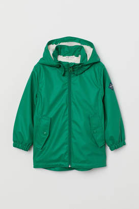 H&M Pile-lined rain jacket - Green