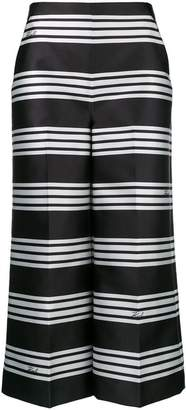 Karl Lagerfeld striped high waisted culottes