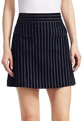 Derek Lam 10 Crosby Women's Velvet Stripe Mini Skirt