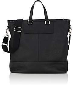 Barneys New York MEN'S LEATHER TOTE BAG-BLACK