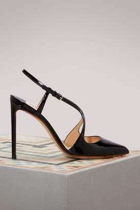 Francesco Russo Crossed straps sandals