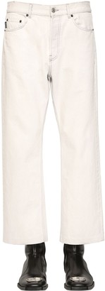 Balenciaga Cropped Japanese Cotton Denim Trousers